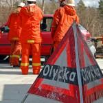 Varning för trafikolycka