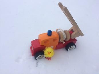 Kyckling med brandbil